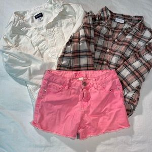 Place & Justice Lot 2 Button Down Shirts 1 shorts